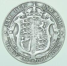 More details for 1906 edward vii halfcrown, british silver coin gf