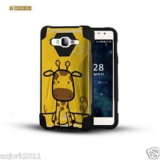 Giraffe Shockproof Case w/Stand Skin Cover for Samsung Galaxy J7 J700