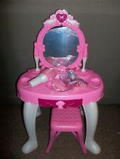 Girls Vanity Makeup Table Mirror Chair Set Pretend Toy Play Hair Dryer Acc 8125