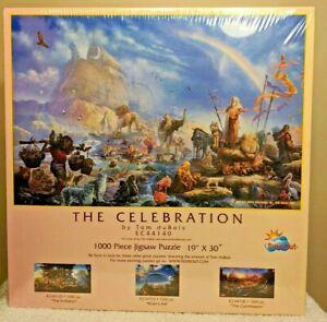 """Vintage 1000 Piece The Celebration Religion Jigsaw Puzzle Noah's Ark 19"""" X 30"""""""