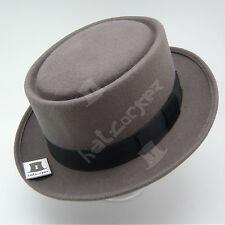 Wool Felt Pork Pie Flat Top Hat Unisex | 57cm | Grey | QUALITY x CLASSIC