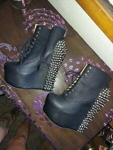 Jeffrey Campbell sz 10 Spiked Damsel wedges Shoes women platform