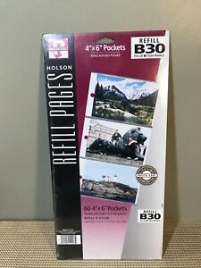 """(1) Holson Refill Pages B30 60 4""""x6"""" Pocket Ring-Bound Pages"""