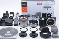 """""""Exc+5 in BOX"""" Sony NEX-5 14.2MP Digital w/ 16mm & 18-55mm JAPAN #191134"""