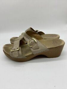 Dansko Sophie Double Buckle Straps Tan Brown Sandals 9841032200 Women's Size 40