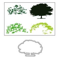 Trees Metal Cutting Dies And Clear Stamp Set For DIY Scrapbooking Photo Album