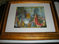 "C.T. Russell PHOTO-DRAMA OF CREATION photo ""Solomon and Queen"" Watchtower IBSA"