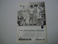 advertising Pubblicità 1961 SCOTCHGARD MINNESOTA