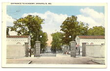 ANNAPOLIS MD Naval Academy Entrance Gate Vtg Postcard