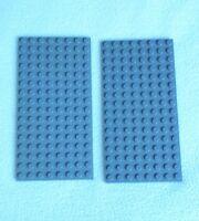 LEGO DARK GREY BASE PLATE 8x16 STUDS GRAY BASE BOARD BUILDING STONE STAR WARS
