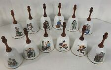 Vintage Rare The Twelve Norman Rockwell Bells by Danbury Mint 1983 Complete Set