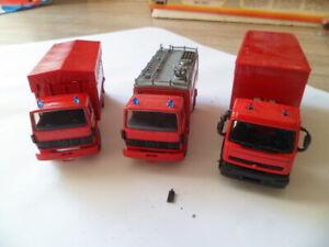 """Lot de 3 camions  Renault """"Pompiers"""" - Solido 1/60"""
