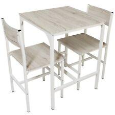 Set Tavolo Bar Con 2 Sedie Rovere Beige Cucina Tavolino Comodi Mod. PORTOFINO