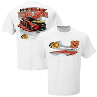 Men's Checkered Flag White Martin Truex Jr. Bass Pro Shops T-Shirt