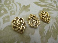 Gold Scroll Connectors Drop Links Chandelier Earring Findings 2 Loops Qty 12