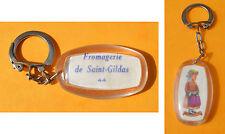 Porte-clé, années 1960, Fromagerie St Gildas et coiffe de Guérande