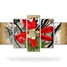 Tulpe Natur Blume Bild Bilder Leinwand Wandbild Kunstdruck 5 Teilig