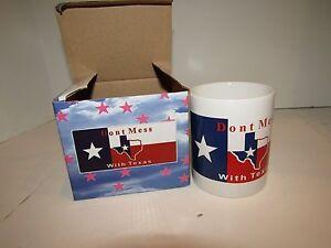 12oz Don't Mess With Texas State Flag Map Ceramic Mug