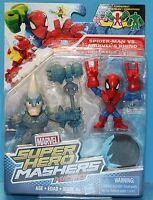 MARVEL SUPER HERO MASHERS MICROS 2 PACK SPIDER MAN VS MARVELS RHINO