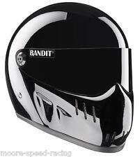 Bandit Xxr Casco Negro Brillante Street Fighter casco personalizado agresivo