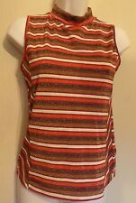 Henry Holland UK12 EU40 US8 striped multicoloured sleeveless stretch glitter top