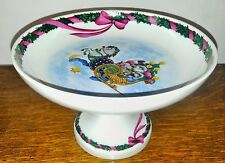 """Jingle Bells"" Royal Copenhagen Serving Raised 8"" Cake Plate No Reserve"
