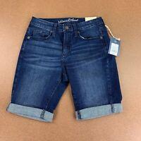 Universal Thread Women's Size 4 Dark Wash Denim High Rise Bermuda Jean Shorts