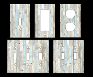 BEACH WOOD #2 Light Switch Covers Home Decor Outlet MULTIPLE OPTIONS