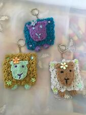 New Hand Made Colourful Sheep Keyrings Available In 3 Colours Key Rings