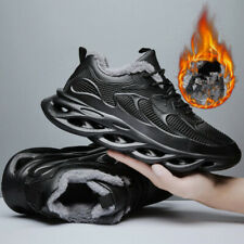 Men Casual Shoes Fashion Lightweight Sneakers Winter Plush Warm Running Footwear