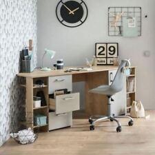 180cm Eck Schreibtisch Eiche Grau Eckschreibtisch Ecklösung PC Computertisch