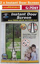 2x Instant Mesh Screen Door Magnetic Bug Mosquito Fly Pet Patio Net Hands