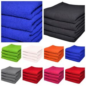 SET OF 2 & 4 LARGE HAND TOWELS LUXURIOUSLY SOFT 50X90CM 100% COTTON BATH GIFT