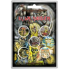 Iron Maiden pack of 5 round pin badges (py)