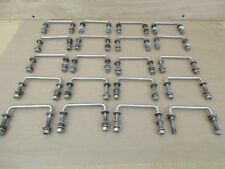"""Lot of 20 Cargo """"U"""" Handles Polished Stainless Steel with Nuts"""