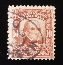 U.S. 1902-03 Daniel Webster 10 Cent Stamp (Sn: 307) Used