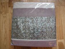 Next MAUVE PURPLE  PLUM PANEL SEQUINE Bed set Duvet BedSet DOUBLE SIZE bedding