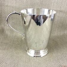 Vintage Tankard Beer Mug Silver Plated Art Deco 1 Pint Pot Simple Design Vtg