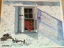 George Boutwell Signed Numbered Limited Print Floral Window Architecture Texas