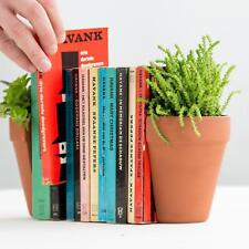 Suck UK Plant Pot Book Ends | Decorative Shelf Dividers | Succulent & Plant Pot