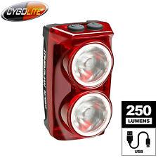CygoLite Hypershot 250 Lm USB Bicycle LED Rear Tail Light - 7 Light Modes