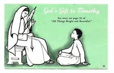 God's Gift to Timothy Postcard Vintage All Things Bright and Beautiful Unposted