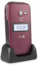 BRAND NEW DORO PHONE EASY 620 RED EE T-MOBILE ORANGE+ CRADLE+ ACCESSORIES