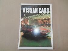 Nissan 1987 Brochure Micra Sunny Bluebird Silvia Laurel 300C 300ZX Patrol MINT
