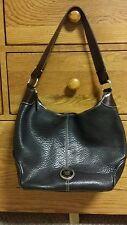 Dooney & Bourke All Weather Leather Black w/Brown trim hobo shoulderHandbag