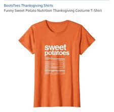 Women's Funny Nutrition Sweet Potatoe T Shirt Size XXL