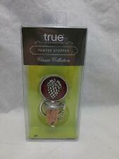 True Fabrications Pewter Grapes Wine Cork Stopper Classic Collection New