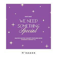 WEKI MEKI Single 'DAZZLE DAZZLE' Album Shimmering Ver Sleeve+Post Card+Selfie PC