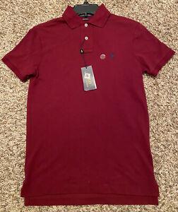 NEW Polo Ralph Lauren Men's Custom Slim Fit Short-Sleeve Polo Shirt Maroon XS