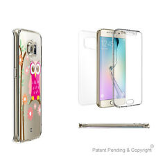 Clear Case Full Body Coverage for Samsung Galaxy S6 Edge with Pink Owl